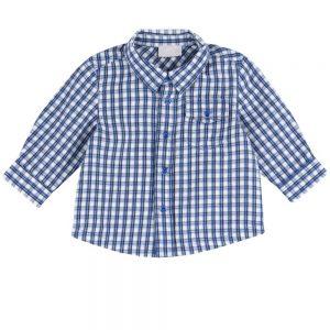 Camicia Bambino a Quadri Azzurra Chicco - 51581