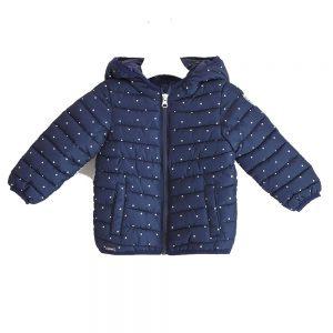 Giubbottino Bambino con Micro Pois Blu Sarabanda - D315100