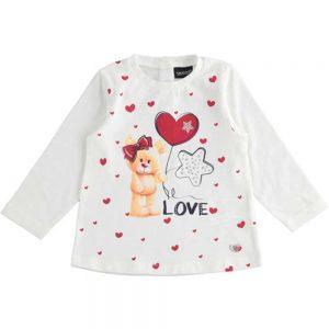 Maglietta Bambina Manica Lunga Orsetto Love Sarabanda - 1372900