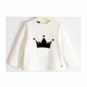 Maglietta Bambina Manica Lunga con Corona Sarabanda - 0321000