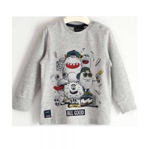 Maglietta Bambino Manica Lunga con Mostri Sarabanda - D310300