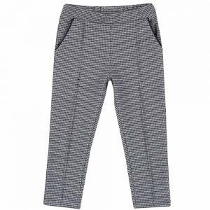 Pantalone Bambina Bianco e Nero Chicco - 08566