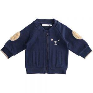 Felpa Bambino con Zip e Orsetto Blu Minibanda - 3363000