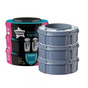 Ricariche Raccogli Pannolini Sangenic Twist & Click Tommee Tippee 3 pezzi - 85101101