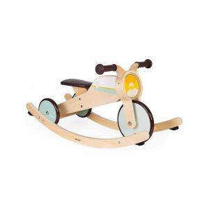 Triciclo a Dondolo Moto in Legno Janod - J03284